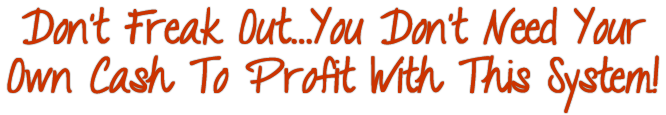 You Don't Need Your Own Cash to Profit With This System